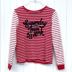 Superdry 75 Striped Sweater. Size 8.